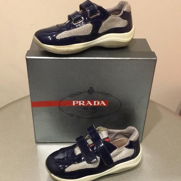 Authentic pre-owned Prada Kids sneakers. M 5b02161a5521bea5cffbac0a 9f66e04876dc8